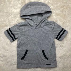 Hudson Hooded T-Shirt Grey & Black Size 3T
